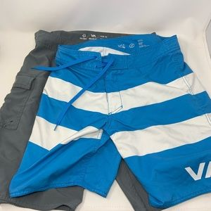RVCA Set of Two Board Shorts 32